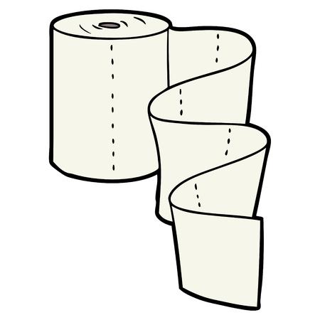 Cartoon kitchen roll on white background. Stock Vector - 95819209