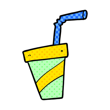 Hand drawn cartoon soda drink  イラスト・ベクター素材