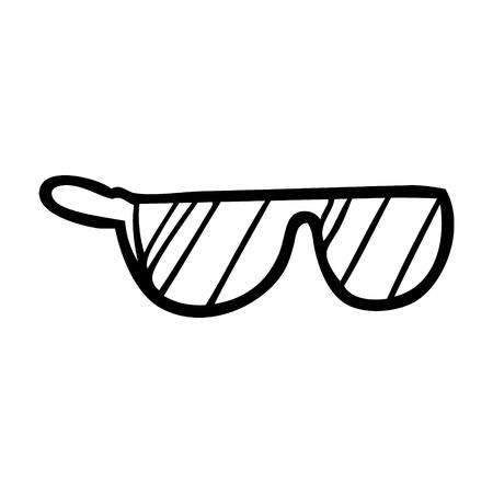 Hand drawn cool cartoon sunglasses