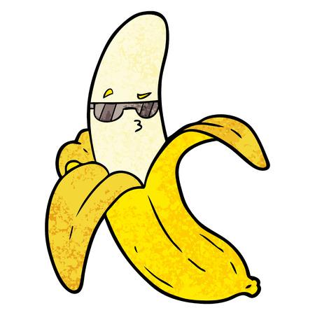 Hand drawn cartoon banana Stock Vector - 95857570