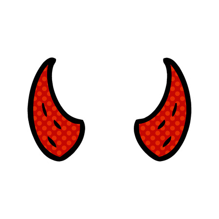 Cartoon devil horns.