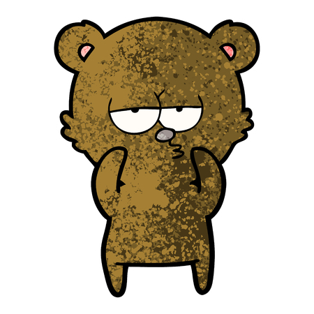 Hand drawn bored bear cartoon Banco de Imagens - 95858000