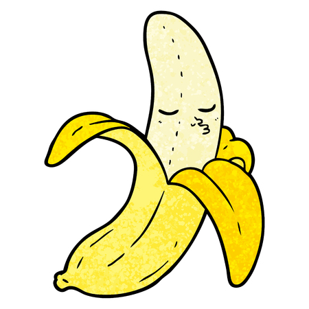 Hand drawn cartoon banana