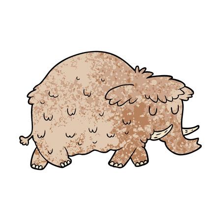 Cartoon prehistoric mammoth. Stock Illustratie