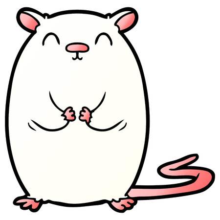 Cartoon white mouse illustration