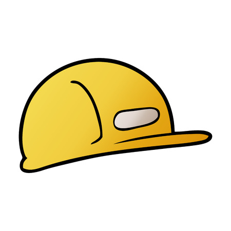 A cartoon builders safety hat isolated on white background.