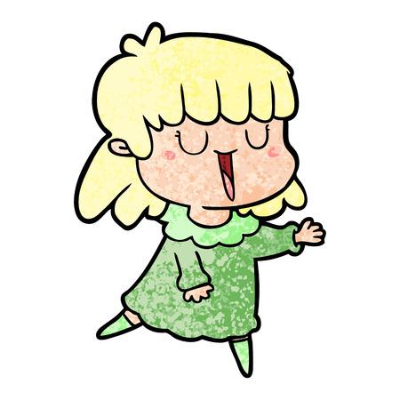 Mujer de dibujos animados cantando Foto de archivo - 95876030
