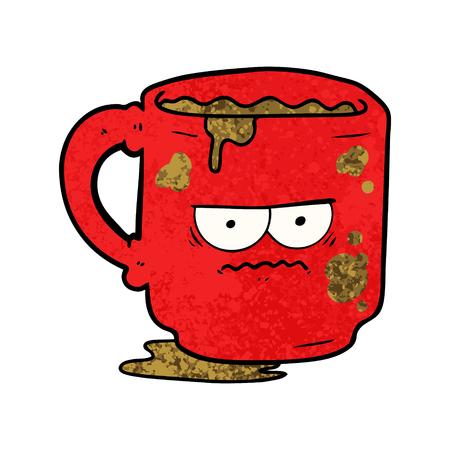 Cartoon dirty office mug