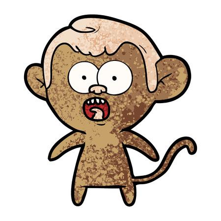 Cartoon shocked monkey Stok Fotoğraf - 95877146