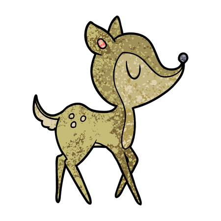 Cartoon cute deer