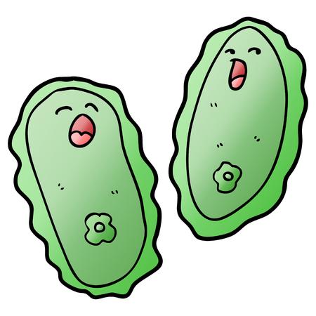 A cartoon cells isolated on white background. Ilustração