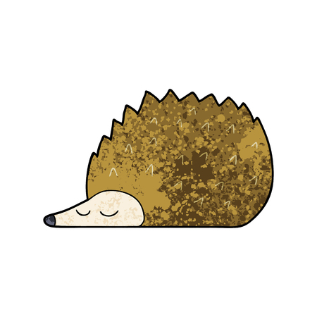 A cartoon hedgehog isolated on white background.