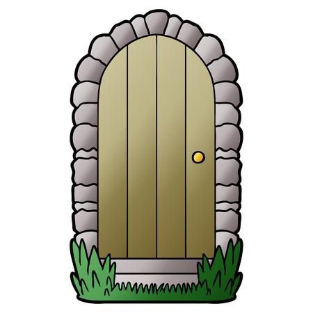cartoon doorway Stockfoto - 95823545