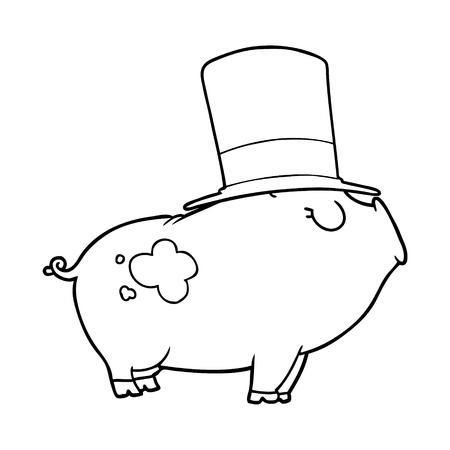 漫画豊富な豚  イラスト・ベクター素材