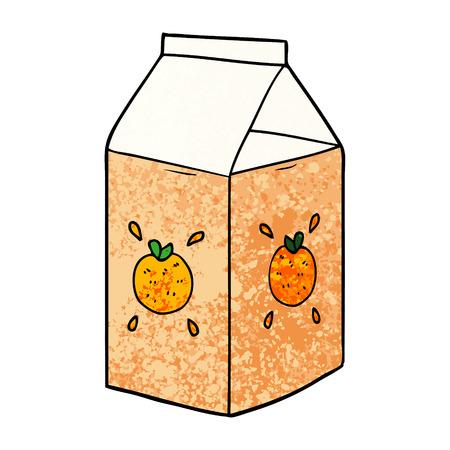 cartoon orange juice carton Ilustracja
