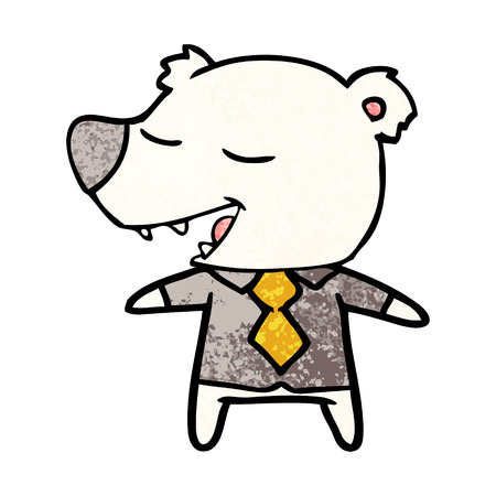 polar bear in shirt and tie cartoon Foto de archivo - 95823588