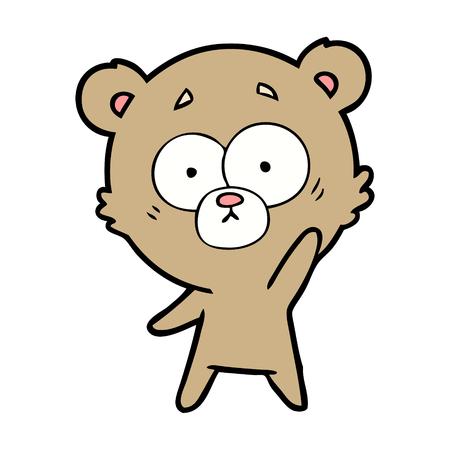 bear cartoon chraracter Иллюстрация