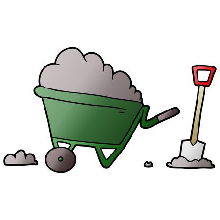 cartoon wheelbarrow