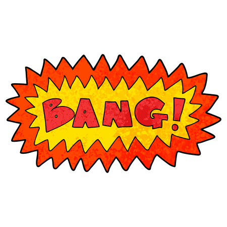 Cartoon bang symbol Ilustração