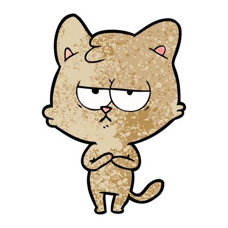 bored cartoon cat