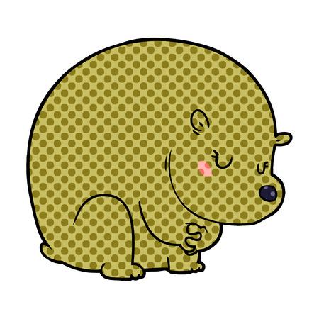shy bear cartoon chraracter