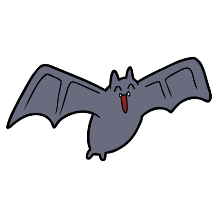 spooky cartoon bat Archivio Fotografico