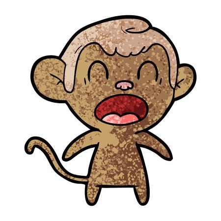shouting cartoon monkey Stok Fotoğraf