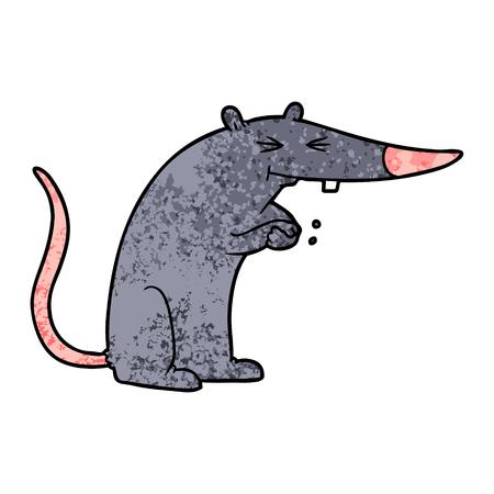 Cartoon sneaky rat