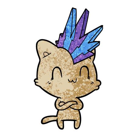 cartoon happy cat punk 스톡 콘텐츠 - 96538945