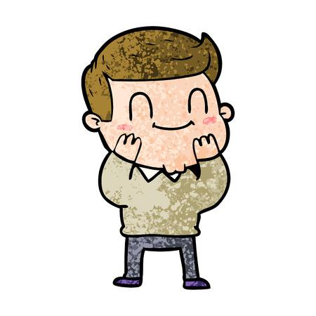 Cartoon freundlicher Mann Standard-Bild - 96491609
