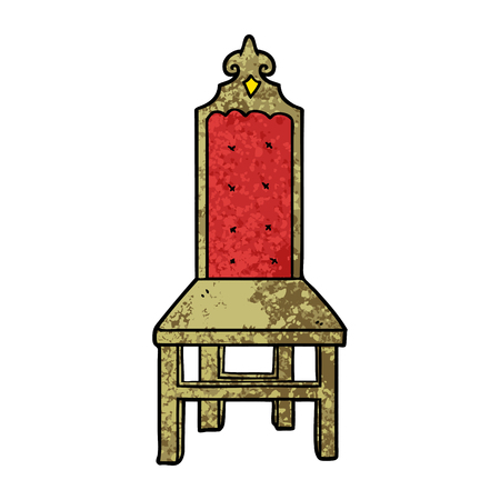 Fancy cartoon chair