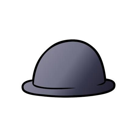 cartoon bowler hat