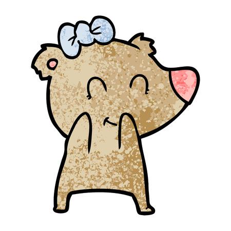 female bear cartoon Archivio Fotografico - 96539078