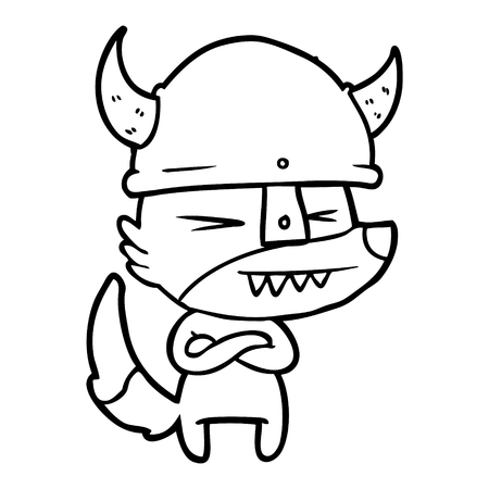angry wolf cartoon Stock Vector - 96470368