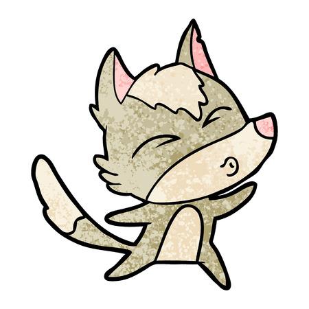 cartoon wolf howling