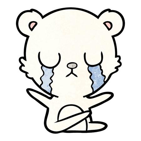 sad little polar bear cartoon