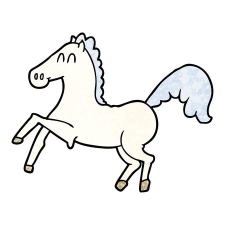 cartoon horse rearing up Illustration