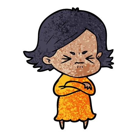 cartoon angry woman Stock Vector - 96540314