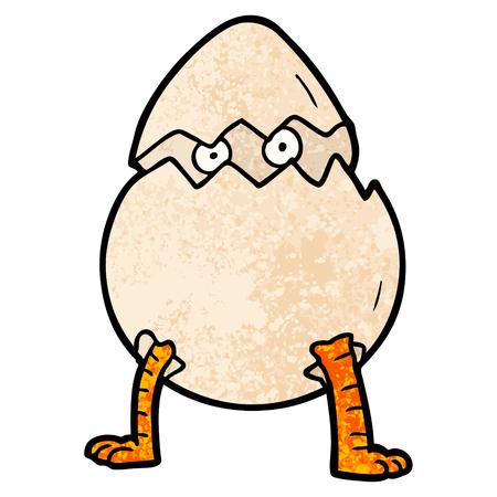 Cartoon hatching egg