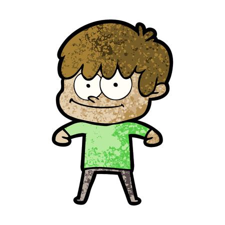 happy cartoon man Banco de Imagens