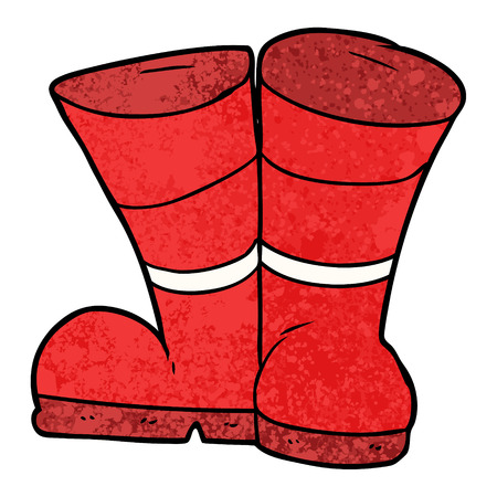 wellington boots cartoon Archivio Fotografico - 96542155
