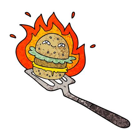 cartoon burger cooking 스톡 콘텐츠