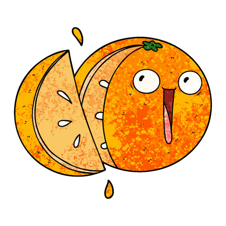 Crazy cartoon orange Banco de Imagens - 96451752