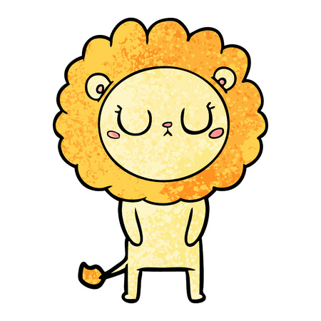Sleepy cartoon lion