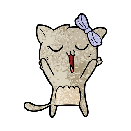 Singing cartoon cat