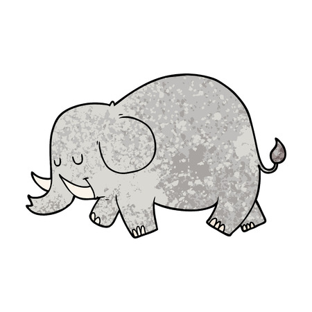 Sleepy cartoon elephant