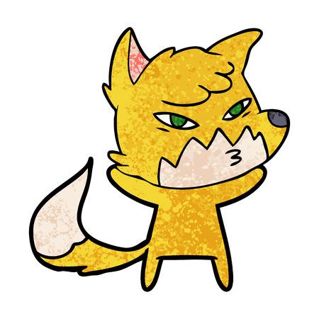 Clever cartoon fox 向量圖像