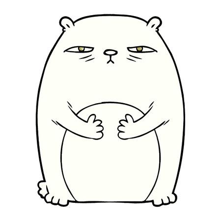 zmęczona kreskówka niedźwiedzia polarnego