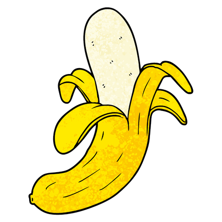 Cartoon banana illustration on white background. Foto de archivo - 96524879
