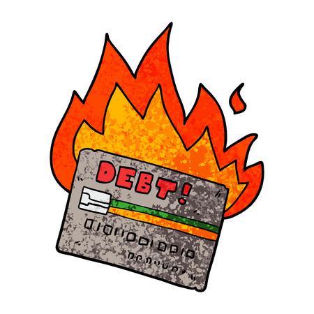 クレジットカードの漫画を燃やす